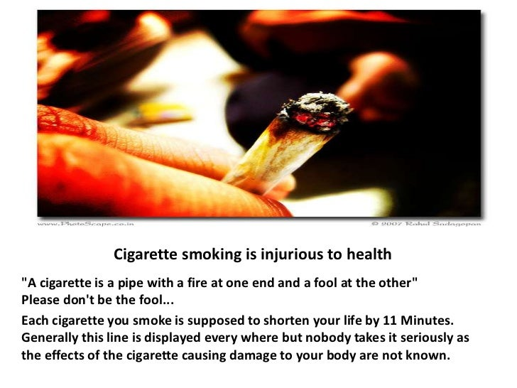 Presentation on smoking is injurious to health
