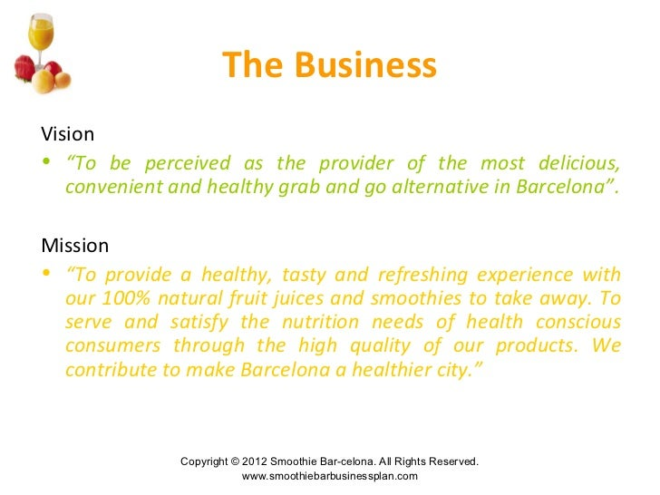 boost juice marketing plan Smoothie and juice bar business plan 1 smoothie & juice bar business plan wwwsmoothiebarbusinessplancom 2 business proposal• smoothie-bar, named smoothie bar-celona, selling a variety of mixed and instantly prepared, 100% natural fruit juices and smoothies to take away• the target group is composed of health conscious consumers looking for convenient fast-f.