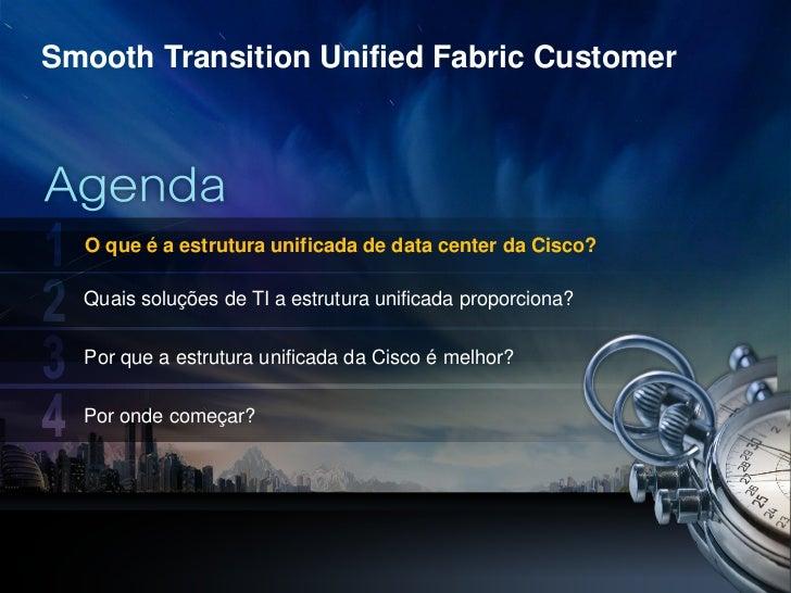 Smooth Transition Unified Fabric Customer      O que é a estrutura unificada de data center da Cisco?      Quais soluções ...