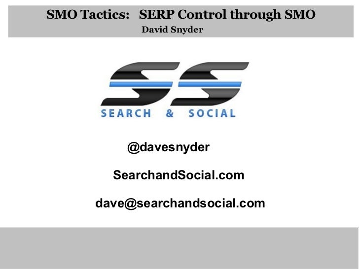 Smo Tactics David Snyder