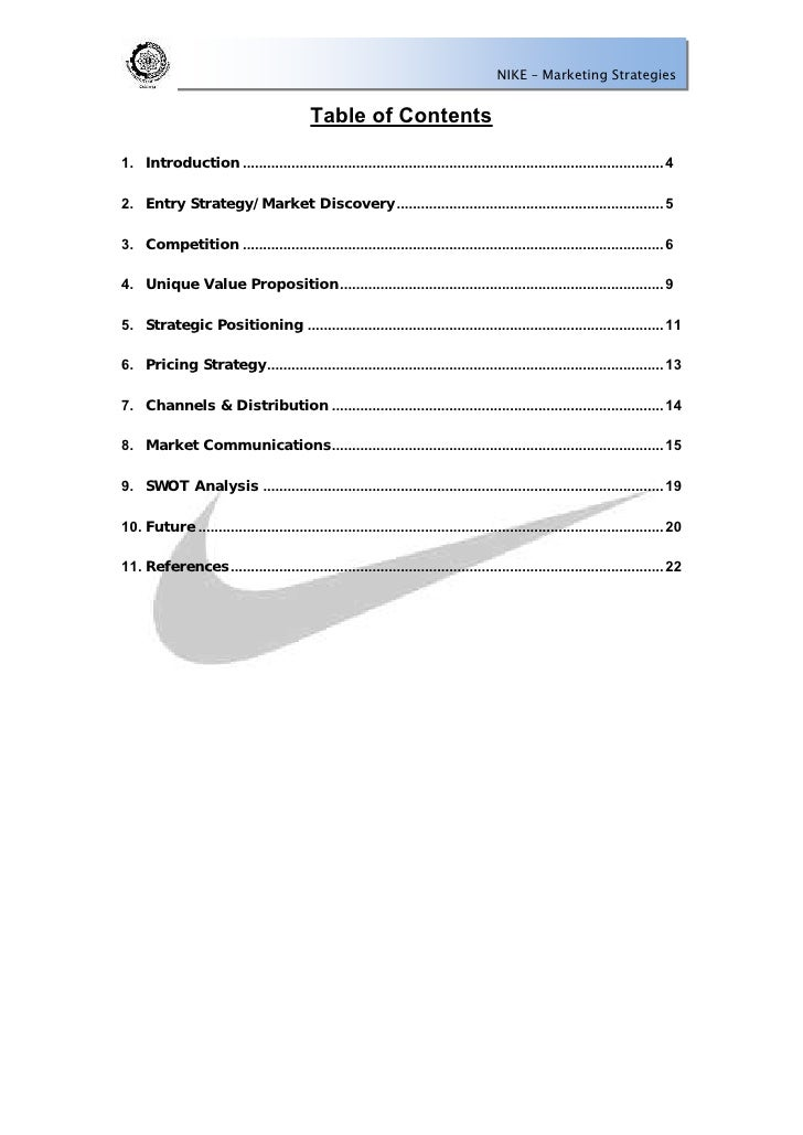 a company overview product analysis and marketing strategy for nike Company profile nike inc in apparel and footwear 41 pages, jul 2017 new product developments marketing and distribution strategies a detailed swot analysis of nike inc provides strategic intelligence on.