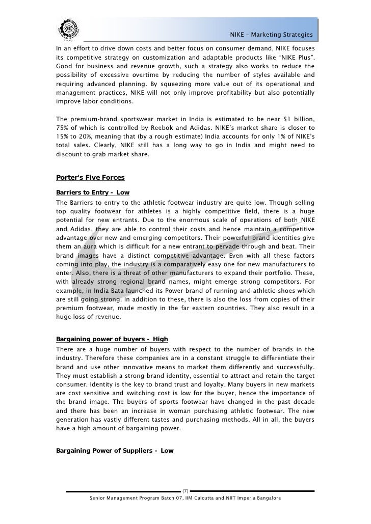 analysis of nike inc essay Nike - financial ratio analysis this case study nike - financial ratio analysis and other 63,000+ term papers, college essay examples and free essays are available.