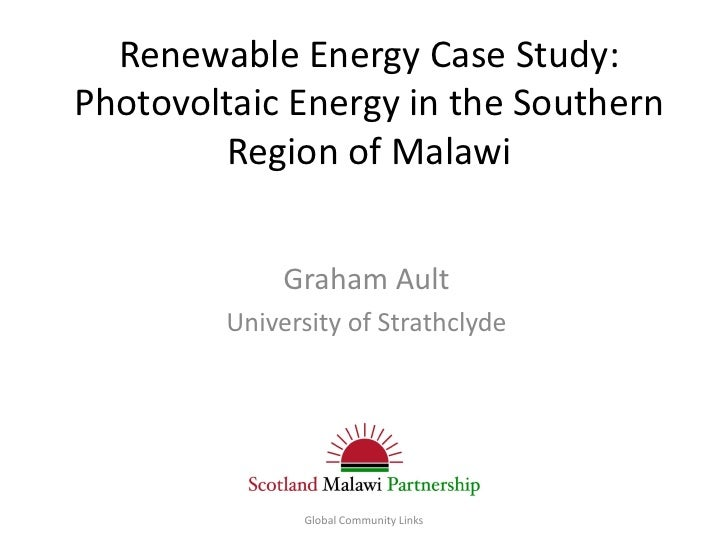 Prof Graham Ault (Strathclyde)-Renewable Energy Case Study