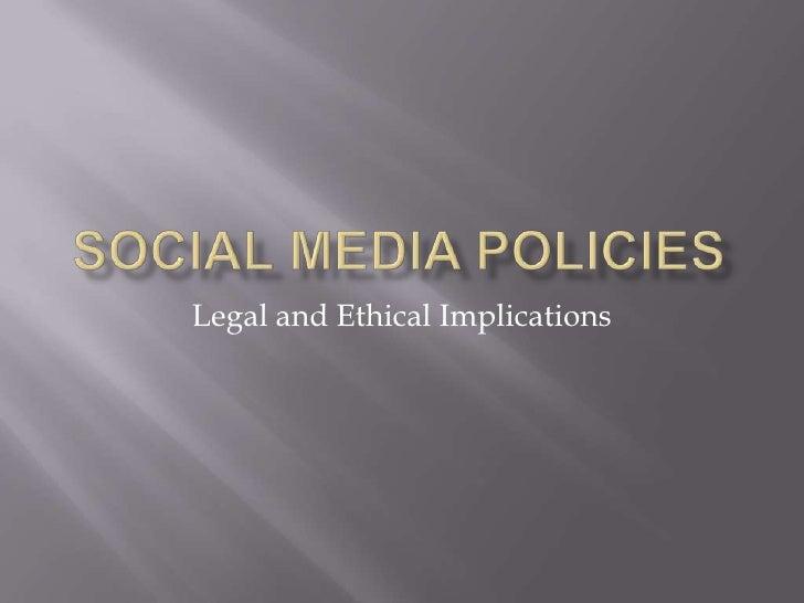 Legal implications of social media