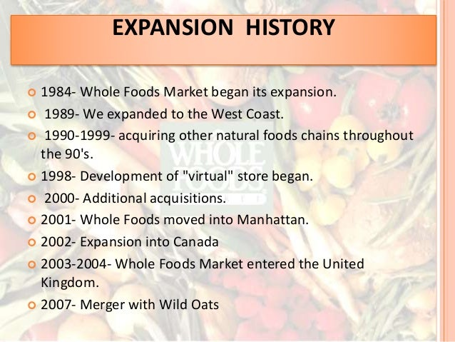 whole foods mission statement essay In my organization and management class, i was required to research a company and present their mission, vision, and core values i chose to report on whole foods market, as i am an employee.