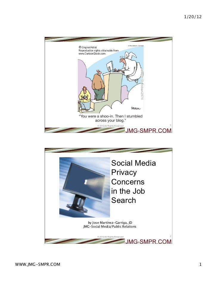 Social Media Privacy Concerns in the Job Search