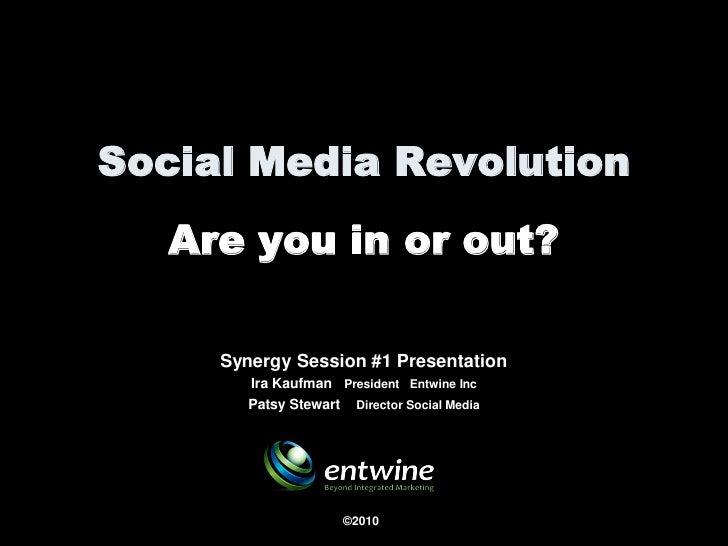 Social Media Revolution 2010 - Synergy Session #1