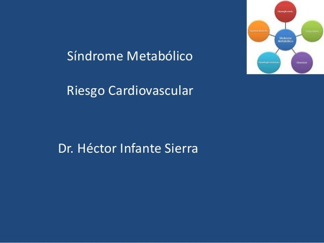 Síndrome Metabólico  Riesgo Cardiovascular  Dr. Héctor Infante Sierra