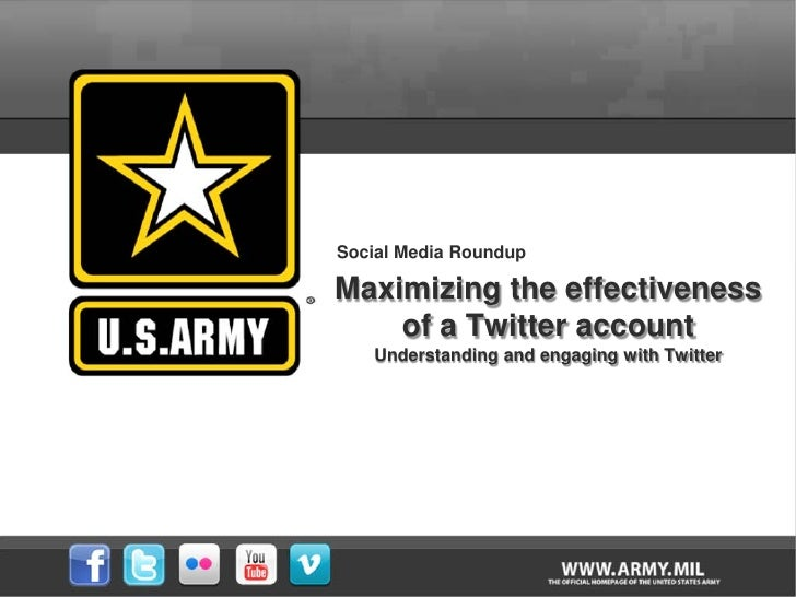 Social Media Roundup/Maximizing the effectiveness of a Twitter account