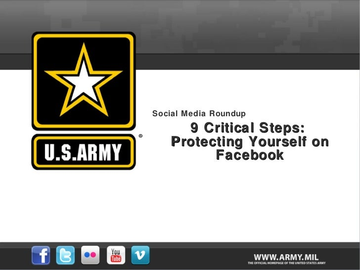 Social Media Roundup 9 Critical Steps:  Protecting Yourself on Facebook