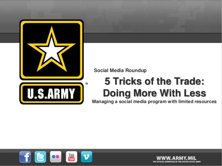 Social Media Roundup - 5 Tricks of the Trade: Doing More With Less