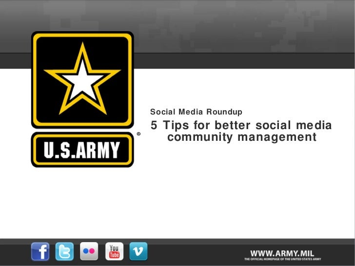 Social Media Roundup 5 Tips for better social media community management