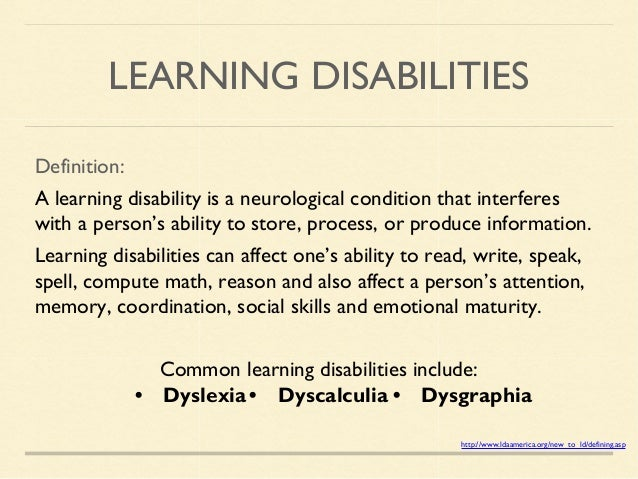mental disabilities dyslexia essay Learning disabilities dysfunction, dyslexia motor disabilities, of mental retardation, of emotional disturbance, or of environmental.