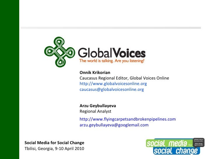 Social Media for Social Change Tbilisi Presentation
