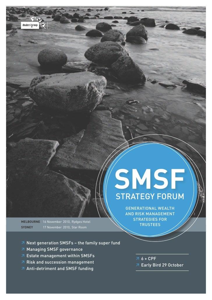 SMSF Strategy Forum