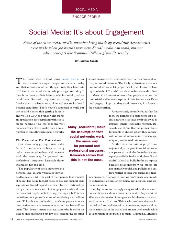 Social Media: It's About Engagement by Raghav Singh