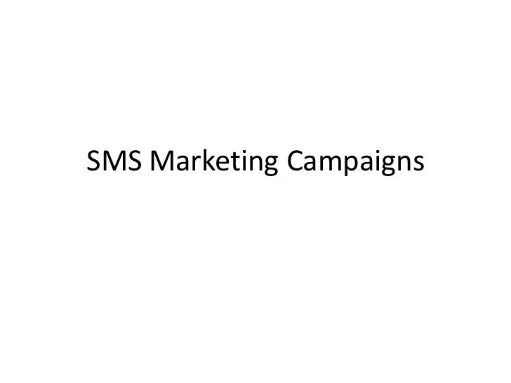 SMS Marketing Campaigns<br />