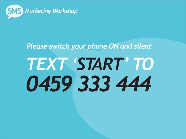 SMS Marketing Workshop