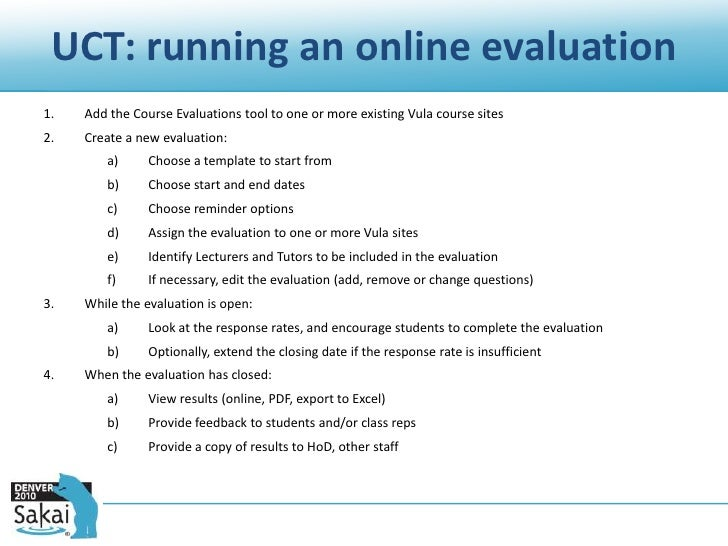 coursework evaluation tool Recent offerings of online courses have outpaced the evaluation of the of a quality assessment tool and their course evaluation to use as.