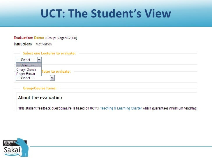 coursework evaluation tool