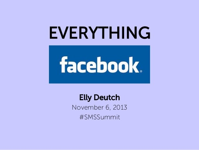 EVERYTHING  Elly Deutch November 6, 2013 #SMSSummit