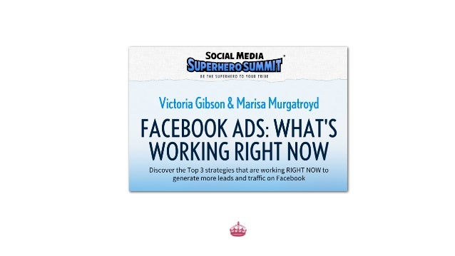 What You'll Learn The Top 3 Strategies working RIGHT NOW on Facebook Insider tips on getting Facebook Ads to work for you ...