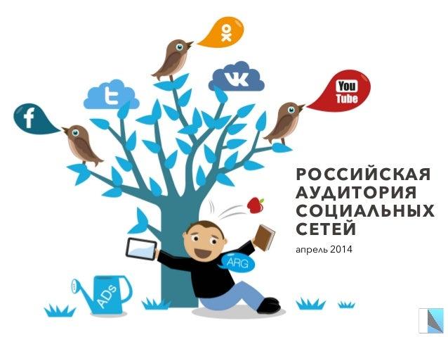 РОССИЙСКАЯ АУДИТОРИЯ СОЦИАЛЬНЫХ СЕТЕЙ апрель 2014