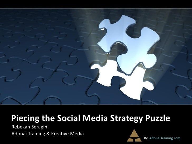 Piecing the Social Media Strategy PuzzleRebekah SeragihAdonai Training & Kreative Media                                   ...