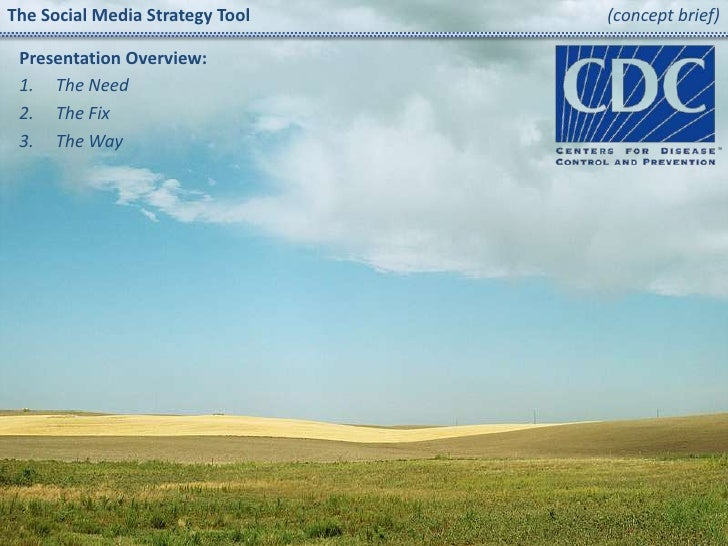 The Social Media Strategy Tool(concept brief)<br />Presentation Overview:<br />The Need<br />The Fix<br />The Way<br />