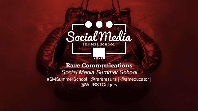Social Media Summer School - Session 2 (social media strategy & voice)