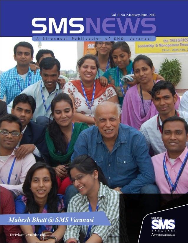 SMS Varanasi newsletter 2013