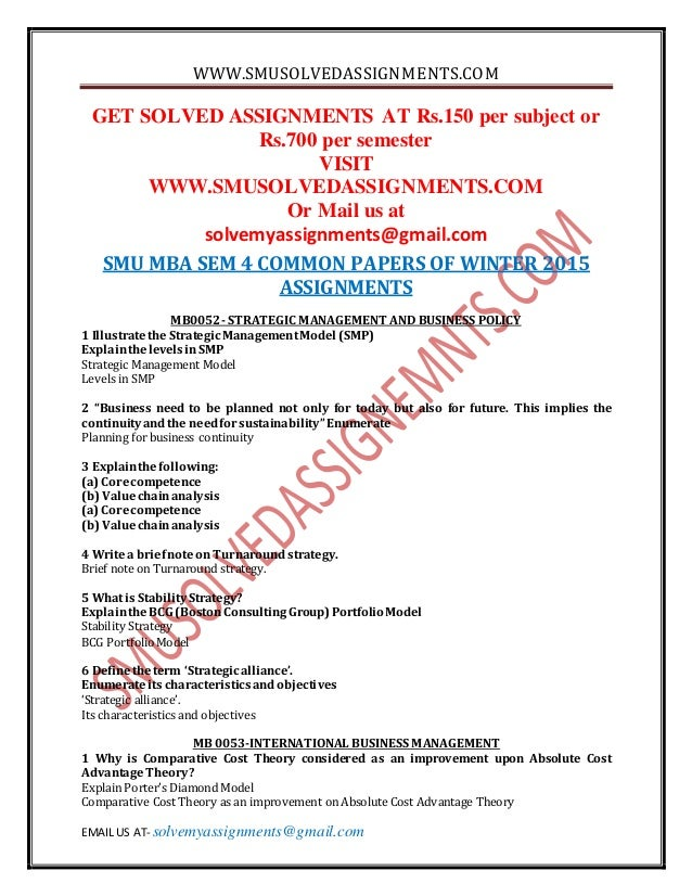 free dawonload smu mba solved question papare Download smu question paper - master of business administration (mba) this is the collection of sikkim manipal university (smu) question and answers it will help to prepare your examination.