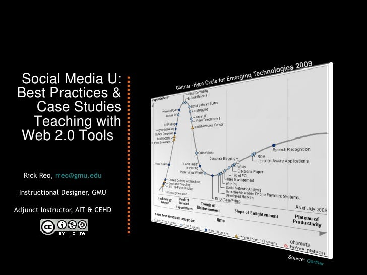 Social Media U: Best Practices & Case Studies Teaching with Web 2.0 Tools  Rick Reo,  [email_address] Instructional Design...