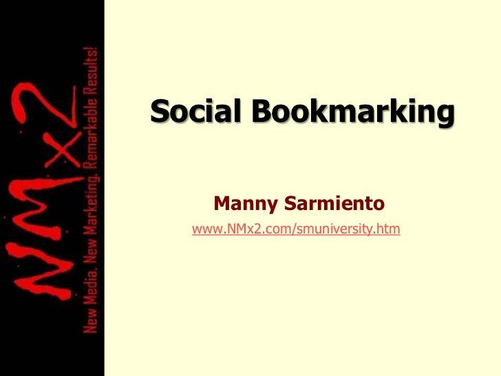 Social Bookmarking / Social Optimization