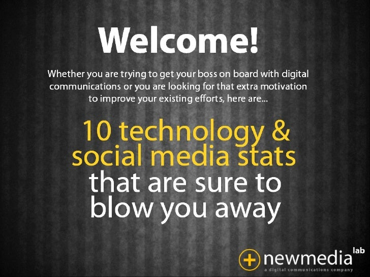 10 Technology & Social Media stats that will blow you away