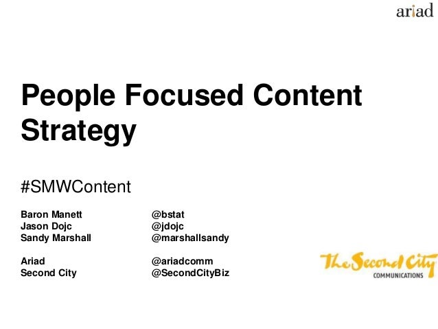 People Focused Content Strategy