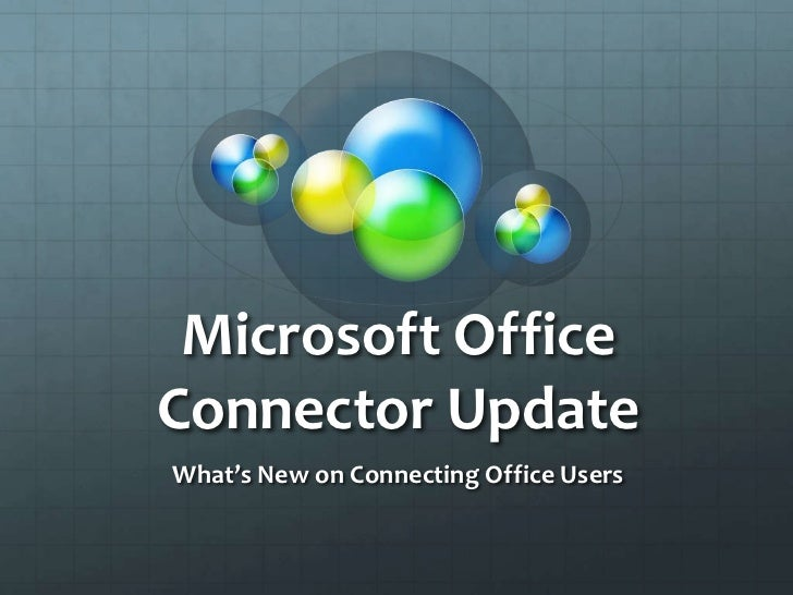 Microsoft Office Connector Update at SMWCon Spring 2011