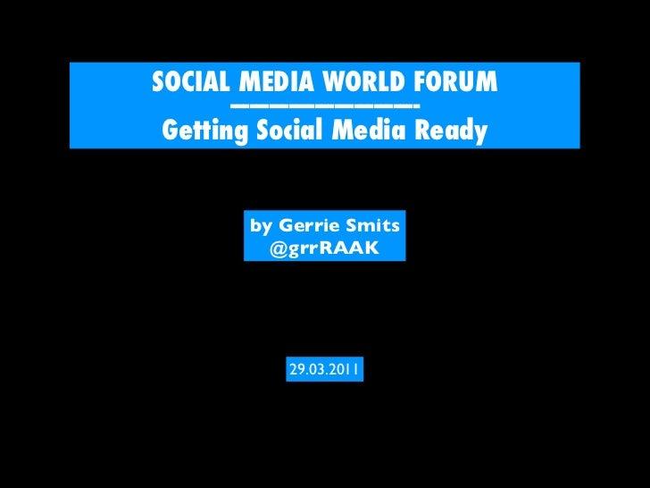 Social Media for SMEs - Getting you Social Media Ready