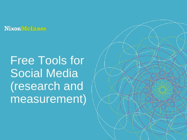 Free Tools for Social Media (research and measurement)
