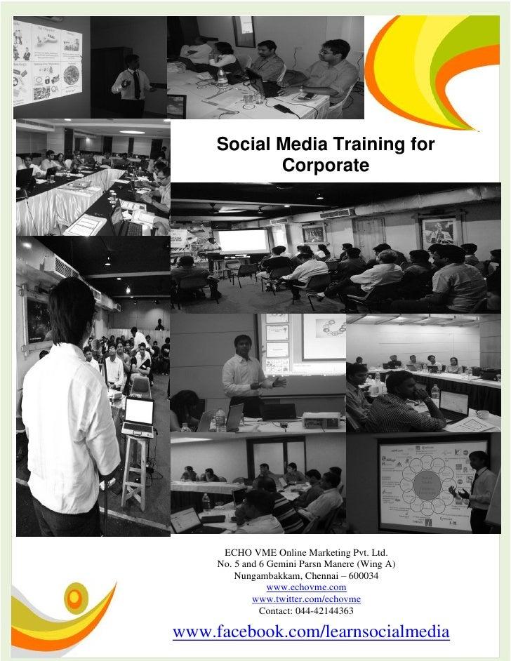 Social Media Training for Business, Corporate & Entrepreneurs