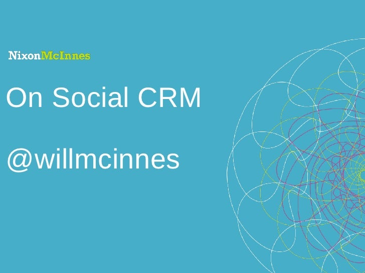 On Social CRM @willmcinnes