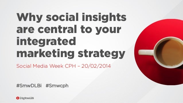Why social insights are central to your integrated marketing strategy Social Media Week CPH – 20/02/2014  #SmwDLBi #Smwcph