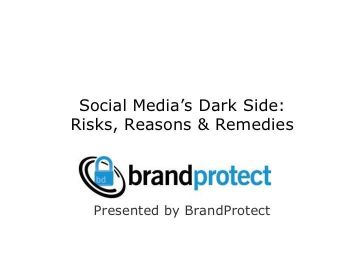 Social Media's Dark Side: Risks, Reasons & Remedies