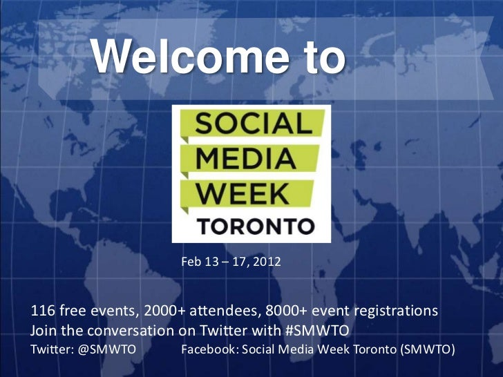 Welcome to                     Feb 13 – 17, 2012116 free events, 2000+ attendees, 8000+ event registrationsJoin the conver...
