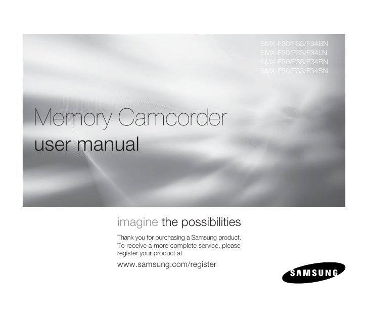 Samsung Camcorder SMX-F30N User Manual