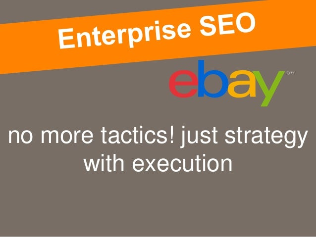 no more tactics! just strategy with execution