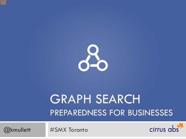 Facebook Graph Search Preparediness For Businesses - SMX Toronto