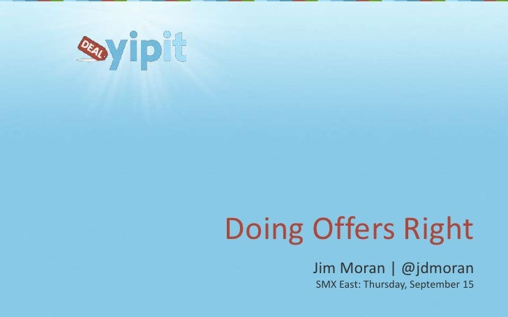 SMX East: Doing Offers Right