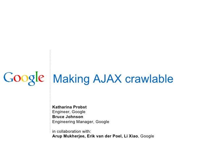 rendre AJAX crawlable par les moteurs