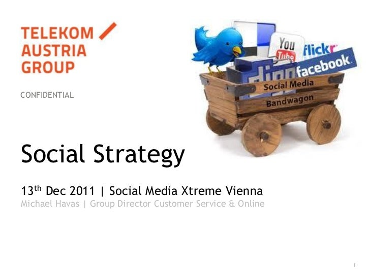 CONFIDENTIALSocial Strategy13th Dec 2011 | Social Media Xtreme ViennaMichael Havas | Group Director Customer Service & Onl...